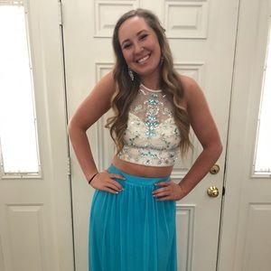 B. Darlin 2 piece prom dress